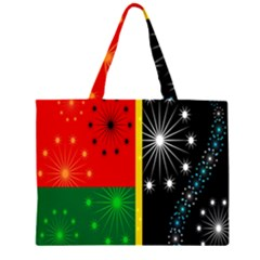 Snowflake Background Digitally Created Pattern Large Tote Bag