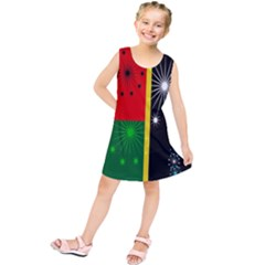 Snowflake Background Digitally Created Pattern Kids  Tunic Dress