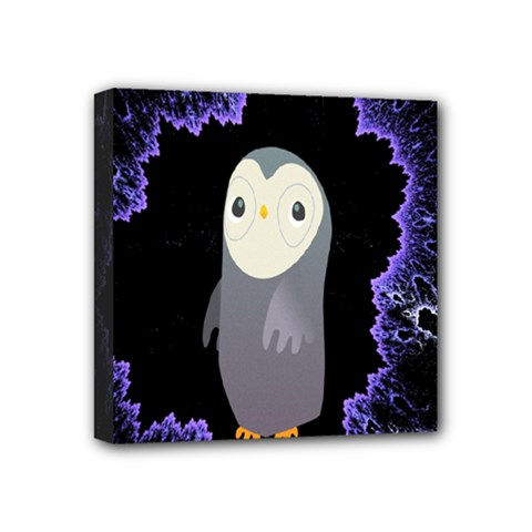 Fractal Image With Penguin Drawing Mini Canvas 4  X 4