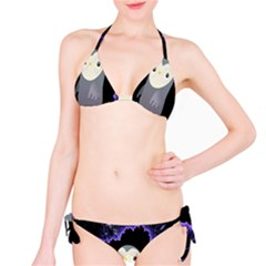 Fractal Image With Penguin Drawing Bikini Set