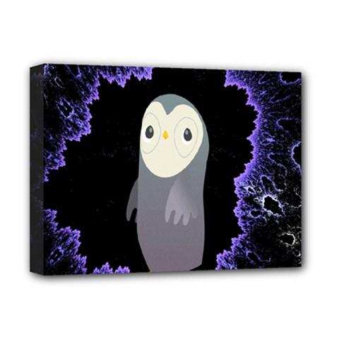 Fractal Image With Penguin Drawing Deluxe Canvas 16  x 12