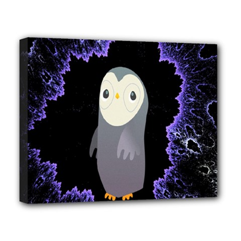 Fractal Image With Penguin Drawing Deluxe Canvas 20  x 16