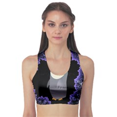 Fractal Image With Penguin Drawing Sports Bra