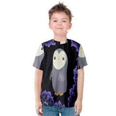 Fractal Image With Penguin Drawing Kids  Cotton Tee