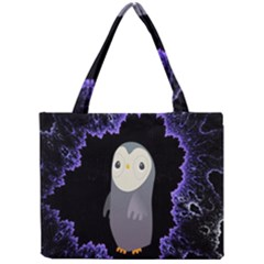 Fractal Image With Penguin Drawing Mini Tote Bag