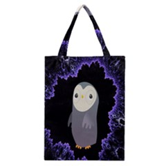 Fractal Image With Penguin Drawing Classic Tote Bag