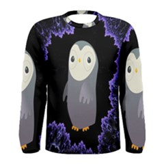 Fractal Image With Penguin Drawing Men s Long Sleeve Tee