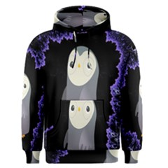 Fractal Image With Penguin Drawing Men s Pullover Hoodie