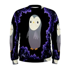 Fractal Image With Penguin Drawing Men s Sweatshirt