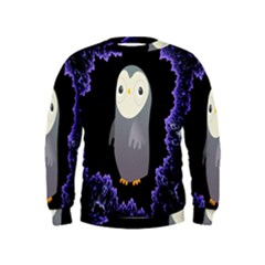 Fractal Image With Penguin Drawing Kids  Sweatshirt