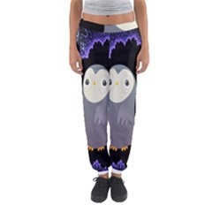 Fractal Image With Penguin Drawing Women s Jogger Sweatpants