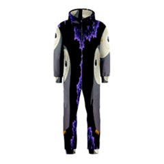 Fractal Image With Penguin Drawing Hooded Jumpsuit (kids)