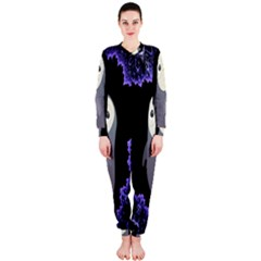 Fractal Image With Penguin Drawing Onepiece Jumpsuit (ladies)