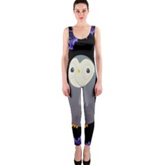 Fractal Image With Penguin Drawing OnePiece Catsuit