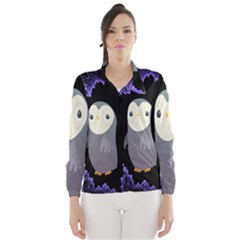 Fractal Image With Penguin Drawing Wind Breaker (Women)