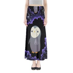 Fractal Image With Penguin Drawing Maxi Skirts
