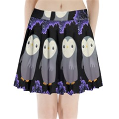 Fractal Image With Penguin Drawing Pleated Mini Skirt