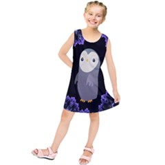 Fractal Image With Penguin Drawing Kids  Tunic Dress