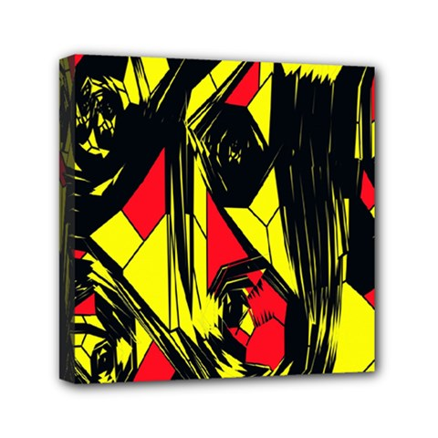 Easy Colors Abstract Pattern Mini Canvas 6  x 6