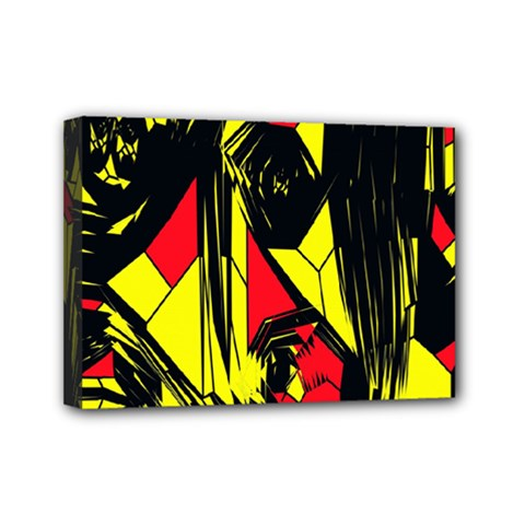 Easy Colors Abstract Pattern Mini Canvas 7  x 5
