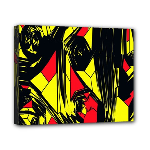 Easy Colors Abstract Pattern Canvas 10  x 8