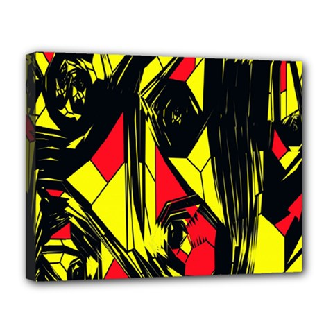 Easy Colors Abstract Pattern Canvas 14  x 11