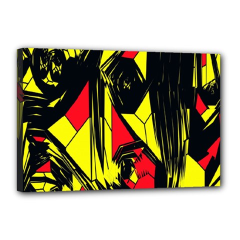 Easy Colors Abstract Pattern Canvas 18  x 12