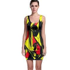 Easy Colors Abstract Pattern Sleeveless Bodycon Dress