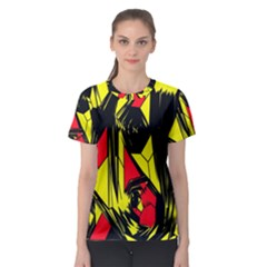 Easy Colors Abstract Pattern Women s Sport Mesh Tee