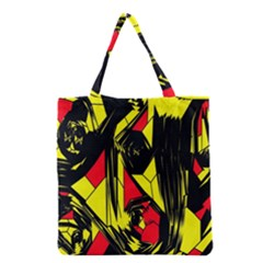 Easy Colors Abstract Pattern Grocery Tote Bag
