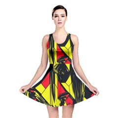 Easy Colors Abstract Pattern Reversible Skater Dress
