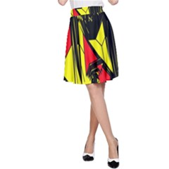 Easy Colors Abstract Pattern A-Line Skirt