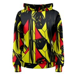Easy Colors Abstract Pattern Women s Pullover Hoodie