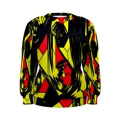Easy Colors Abstract Pattern Women s Sweatshirt