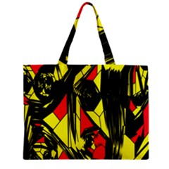 Easy Colors Abstract Pattern Zipper Mini Tote Bag