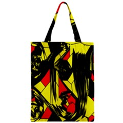 Easy Colors Abstract Pattern Zipper Classic Tote Bag