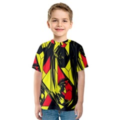 Easy Colors Abstract Pattern Kids  Sport Mesh Tee