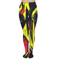 Easy Colors Abstract Pattern Women s Tights