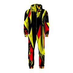 Easy Colors Abstract Pattern Hooded Jumpsuit (Kids)