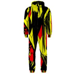 Easy Colors Abstract Pattern Hooded Jumpsuit (Men)