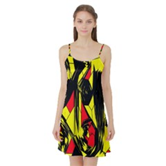 Easy Colors Abstract Pattern Satin Night Slip