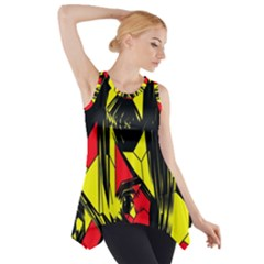 Easy Colors Abstract Pattern Side Drop Tank Tunic