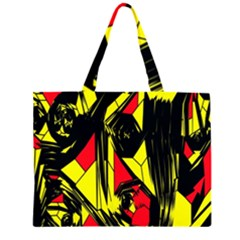Easy Colors Abstract Pattern Large Tote Bag
