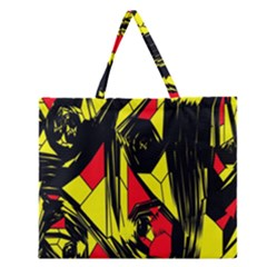 Easy Colors Abstract Pattern Zipper Large Tote Bag