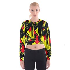 Easy Colors Abstract Pattern Cropped Sweatshirt