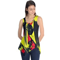 Easy Colors Abstract Pattern Sleeveless Tunic