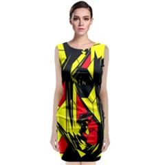 Easy Colors Abstract Pattern Classic Sleeveless Midi Dress