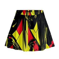 Easy Colors Abstract Pattern Mini Flare Skirt