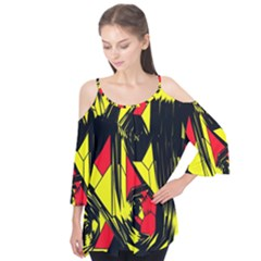 Easy Colors Abstract Pattern Flutter Tees