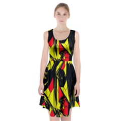 Easy Colors Abstract Pattern Racerback Midi Dress